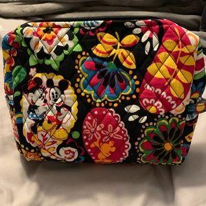 NWT Vera Bradley Midnight Mickey Cosmetic Bag